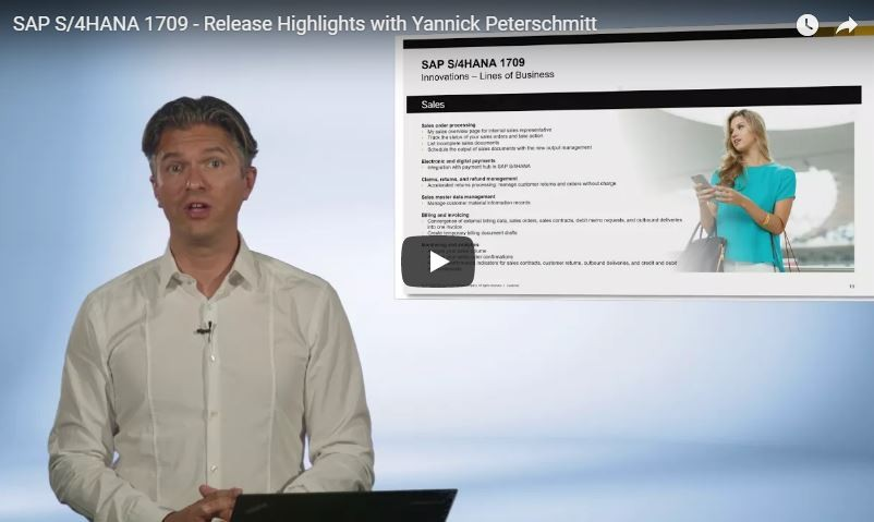 SAP S/4HANA 1709 - Release Highlights